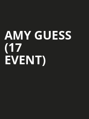 Amy Guess (17+ Event) at Subterranean