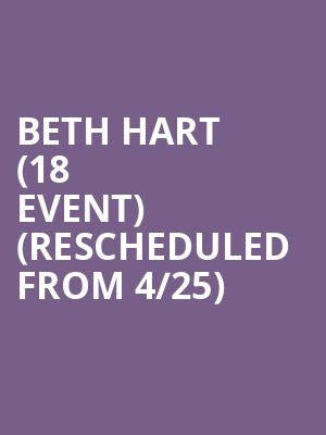 Beth Hart (18+ Event) (Rescheduled from 4/25) at Park West