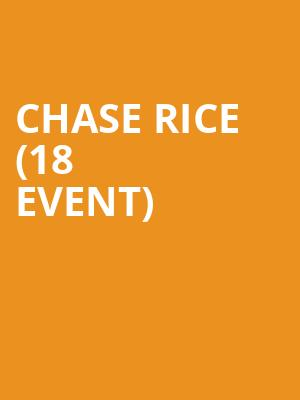 Chase Rice (18+ Event) at Vic Theater