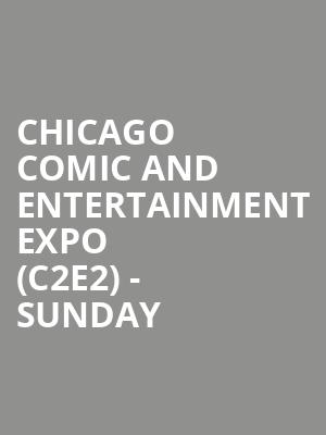 Chicago Comic and Entertainment Expo (C2E2) - Sunday at McCormick Place