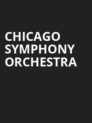 Chicago Symphony Orchestra at Symphony Center Orchestra Hall