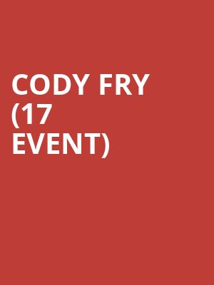 Cody Fry (17+ Event) at Subterranean