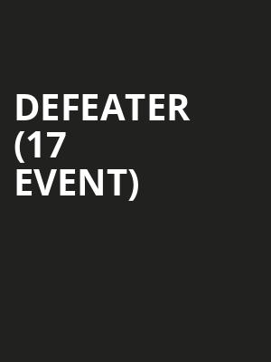 Defeater (17+ Event) at Beat Kitchen