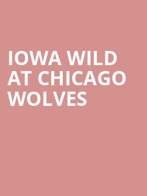 Iowa Wild at Chicago Wolves at All State Arena