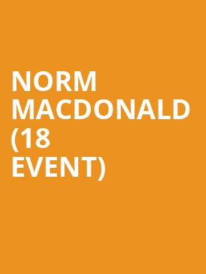 Norm MacDonald (18+ Event) at Vic Theater