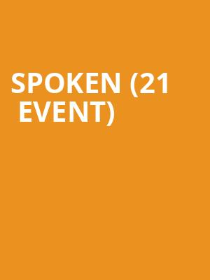 Spoken (21+ Event) at Cubby Bear