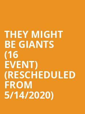 They Might Be Giants (16+ Event) (Rescheduled from 5/14/2020) at Vic Theater