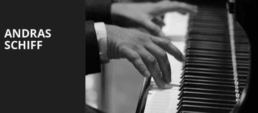 Andras Schiff, Symphony Center Orchestra Hall, Chicago