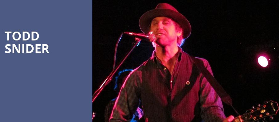 Todd Snider, Park West, Chicago