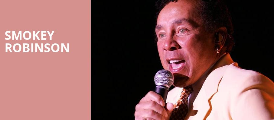 Smokey Robinson, Genesee Theater, Chicago