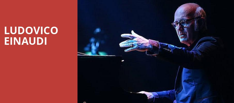 Ludovico Einaudi, Symphony Center Orchestra Hall, Chicago
