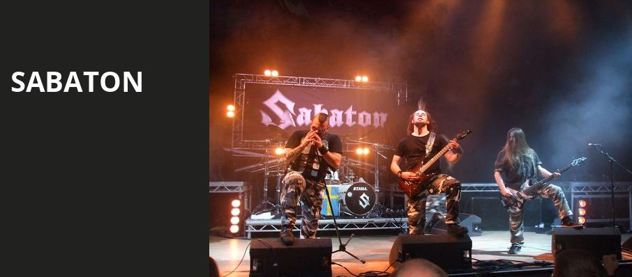 Sabaton, Vic Theater, Chicago
