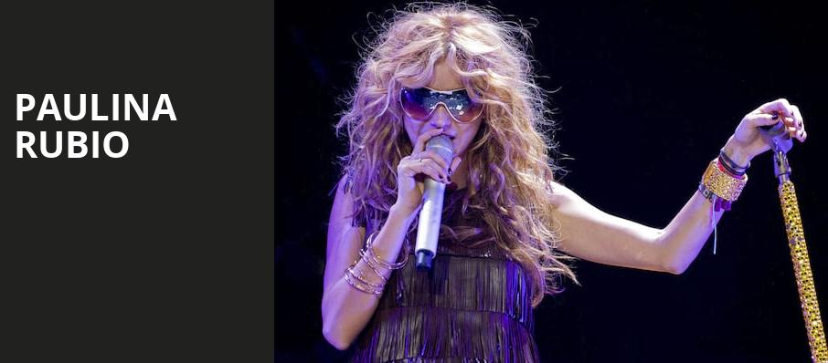 Paulina Rubio, The Chicago Theatre, Chicago