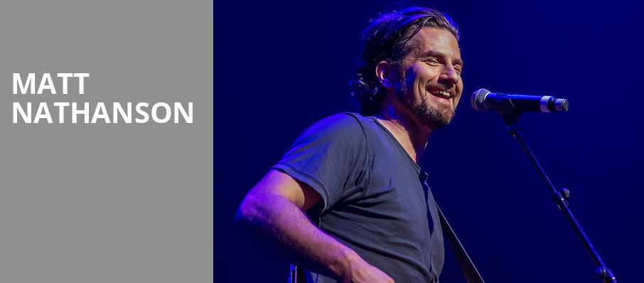 Matt Nathanson, Thalia Hall, Chicago